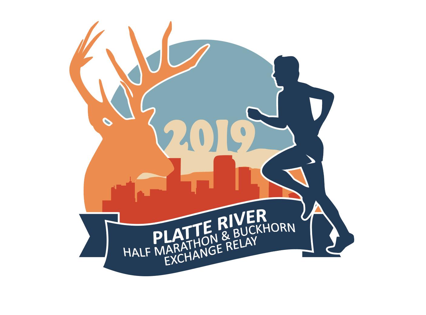 Platte River Half & Buckhorn Exchange Logo